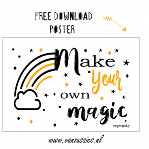 free poster make your own magic
