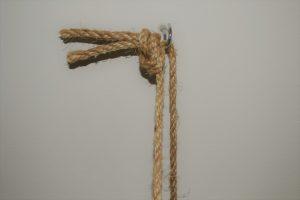 plank met touw
