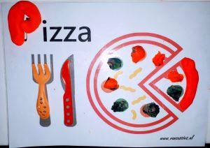 pizza klei mat