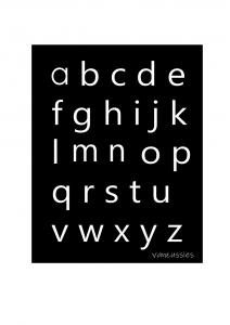 gratisposter alfabet