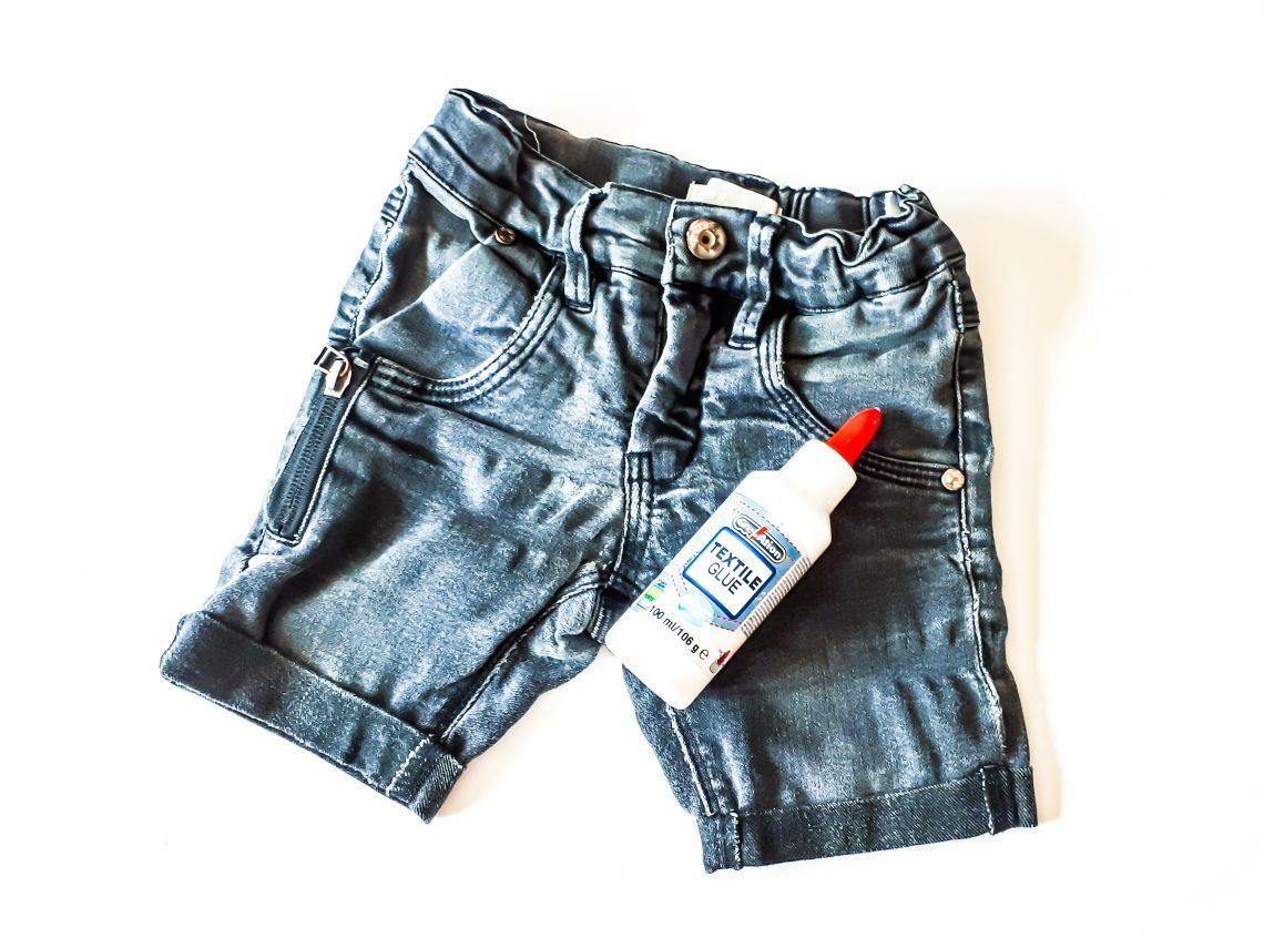 textiellijm korte broek maken