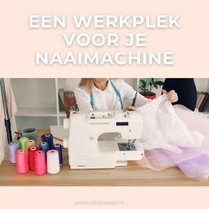 werkplek voor naaimachine